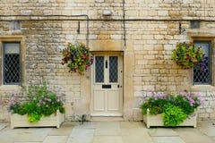 Πόρτα στο σπίτι Hatfield Hertfordshire - Αγγλία - Ηνωμένο Βασίλειο Στοκ Εικόνες