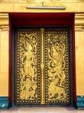 Πόρτα στο Si Saket Wat σε Vientiene Στοκ εικόνα με δικαίωμα ελεύθερης χρήσης