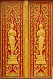 πόρτα Ταϊλανδός εκκλησιών Στοκ φωτογραφία με δικαίωμα ελεύθερης χρήσης
