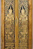πόρτα Ταϊλανδός τέχνης Στοκ Φωτογραφίες