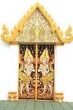 πόρτα Ταϊλανδός τέχνης Στοκ εικόνες με δικαίωμα ελεύθερης χρήσης