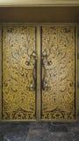 πόρτα Ταϊλανδός τέχνης Στοκ φωτογραφίες με δικαίωμα ελεύθερης χρήσης