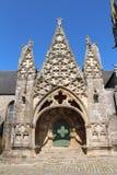 Πόρτα της Notre Dame de Roscudon σε pont-Croix Στοκ Φωτογραφία