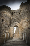 Πόρτα του αρχαίου Castle σε Peñaranda de Duero Στοκ Εικόνες