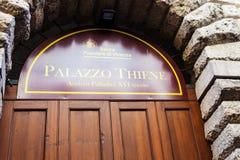 Πόρτα του palazzo Thiene στην πόλη του Βιτσέντσα Στοκ Φωτογραφίες
