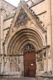 Πόρτα των virgins του καθεδρικού ναού της Σάντα Μαρία Morella, στοκ εικόνες με δικαίωμα ελεύθερης χρήσης