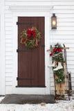 πόρτα Χριστουγέννων παλαιά Στοκ εικόνα με δικαίωμα ελεύθερης χρήσης