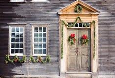 πόρτα Χριστουγέννων στοκ φωτογραφία