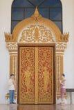 Πόρτα ύφους του Λάος Στοκ Φωτογραφίες