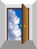 πόρτα 3 ανοικτή διανυσματική απεικόνιση