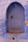 Πόρτα Chefchaouen Στοκ φωτογραφία με δικαίωμα ελεύθερης χρήσης