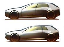 5-πόρτα Hatchback σώματος αυτοκινήτων και 3-πόρτα Hatchback Στοκ Φωτογραφίες