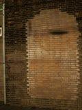 Πόρτα Immured στο τουβλότοιχο Στοκ εικόνες με δικαίωμα ελεύθερης χρήσης