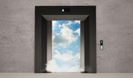 Πόρτες ανελκυστήρων απεικόνιση αποθεμάτων