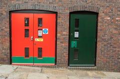 Πόρτες ασφάλειας Στοκ εικόνα με δικαίωμα ελεύθερης χρήσης