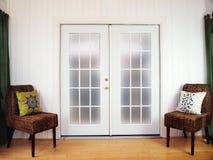 πόρτες γαλλικά Στοκ φωτογραφία με δικαίωμα ελεύθερης χρήσης