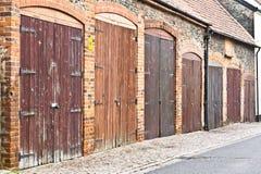 Πόρτες γκαράζ Στοκ Φωτογραφία