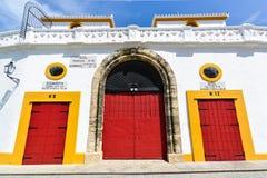 Πόρτες εισόδων από την αρένα ταυρομαχίας, Σεβίλη, Ισπανία Στοκ εικόνες με δικαίωμα ελεύθερης χρήσης