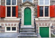 Πόρτες και παράθυρα στο Άμστερνταμ Στοκ φωτογραφίες με δικαίωμα ελεύθερης χρήσης