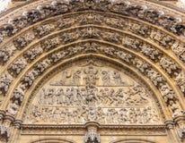 Πόρτες κυριών είσοδος καθεδρικών ναών Antwerpen Στοκ φωτογραφία με δικαίωμα ελεύθερης χρήσης
