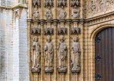 Πόρτες κυριών είσοδος καθεδρικών ναών Antwerpen Στοκ εικόνες με δικαίωμα ελεύθερης χρήσης