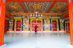 Πόρτες κλειδώματος μοναστηριών Rumtek εισόδων μοναχών Στοκ Εικόνες