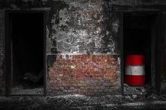 Πόρτες σε ένα έρημο βιομηχανικό κτήριο στοκ φωτογραφία