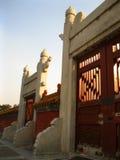 Πόρτες στον κινεζικό ναό Στοκ εικόνα με δικαίωμα ελεύθερης χρήσης