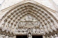 Πόρτες της Notre Dame Στοκ φωτογραφία με δικαίωμα ελεύθερης χρήσης