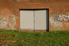 Πόρτες χάλυβα Στοκ Φωτογραφία