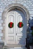 πόρτες Χριστουγέννων Στοκ εικόνες με δικαίωμα ελεύθερης χρήσης