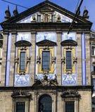 Πόρτο Πορτογαλία 12 Αυγούστου 2017: Λεπτομέρεια της πρόσοψης της εκκλησίας του DOS Congregados Santo Antonio στο κέντρο των WI πό Στοκ Εικόνα