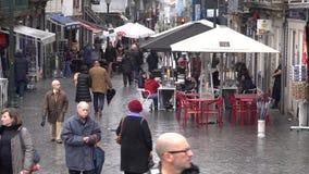 Πόρτο, Πορτογαλία, circa 2018: Άνετος καφές στις οδούς του Πόρτο, Πορτογαλία φιλμ μικρού μήκους