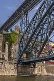 Πόρτο Πορτογαλία Ο Luis Ι γέφυρα είναι μια γέφυρα αψίδων μετάλλων Στοκ εικόνα με δικαίωμα ελεύθερης χρήσης