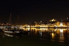 Πόρτο τή νύχτα Πορτογαλία Στοκ Εικόνες