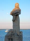 Πόρτο Cesareo - άγαλμα της Manuela Arcuri Στοκ Εικόνες