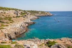Πόρτο Selvaggio, Apulia Στοκ εικόνα με δικαίωμα ελεύθερης χρήσης