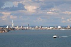 Πόρτσμουθ από το Solent Στοκ φωτογραφία με δικαίωμα ελεύθερης χρήσης