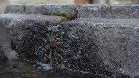 Πόσιμο νερό στο μικρό χωριό που κρύβεται στις ιταλικές ελβετικές Άλπεις κοντά σε Locarno απόθεμα βίντεο