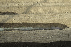 Πότισμα του χώματος Στοκ φωτογραφίες με δικαίωμα ελεύθερης χρήσης