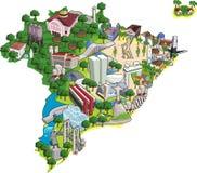 Πόλεις της Βραζιλίας. Στοκ εικόνα με δικαίωμα ελεύθερης χρήσης