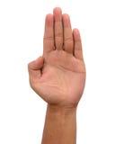 πόλεμος ατόμων χεριών πυγμών εγκιβωτισμού Στοκ φωτογραφία με δικαίωμα ελεύθερης χρήσης