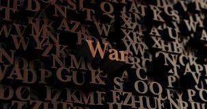Πόλεμος - ξύλινες τρισδιάστατες επιστολές/μήνυμα Στοκ Φωτογραφία