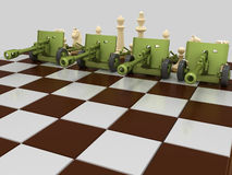 Πόλεμος 4 σκακιού Στοκ φωτογραφία με δικαίωμα ελεύθερης χρήσης
