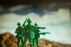 Πόλεμος στρατιωτών παιχνιδιών Στοκ εικόνες με δικαίωμα ελεύθερης χρήσης