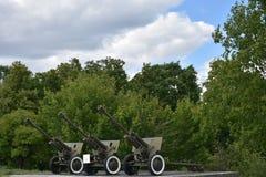 Πόλεμος όπλων δεξαμενών πυροβόλων όπλων Στοκ εικόνα με δικαίωμα ελεύθερης χρήσης