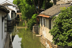 Πόλης αρχιτεκτονική Κίνα νερού Luzhi Στοκ Εικόνες