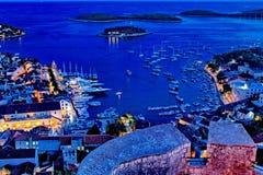 Πόλης λιμάνι Hvar Στοκ Φωτογραφίες