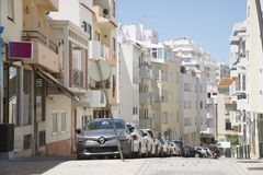 Πόλης κέντρο Armacao de Pera νότια Πορτογαλία Στοκ φωτογραφία με δικαίωμα ελεύθερης χρήσης