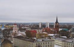 Πόλης πανόραμα Jelgava, Λετονία Στοκ φωτογραφίες με δικαίωμα ελεύθερης χρήσης